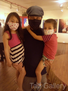 Artist with his kids