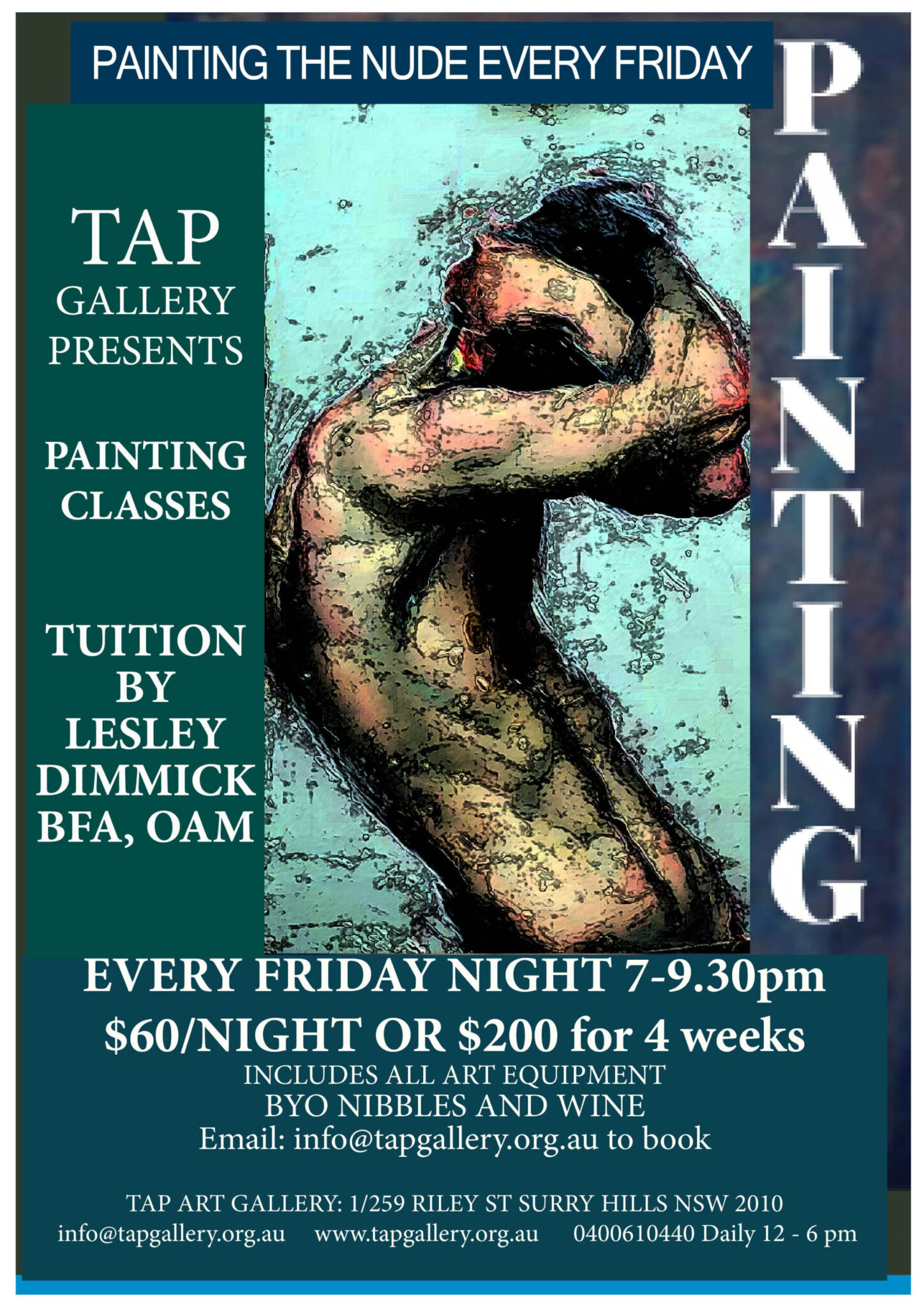 Tap Gallery Gift Vouchers - Painting the Nude